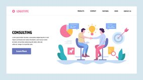 Vector web site gradient design template. Business deal, partnership contract and investment. Landing page concepts for. Website and mobile development. Modern royalty free illustration