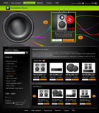 Vector Web site is an online store Stock Images