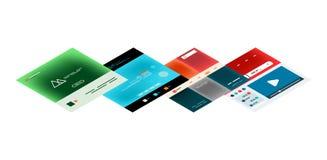 Vector web site page design development concept Stock Photo