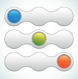 Vector web slider switcher. Web slider switcher - color vector illustration Royalty Free Stock Photos