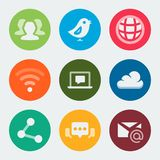 Vector web and social icons set Stock Photo
