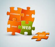 Vector web solution illustration Stock Images