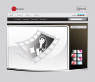 Vector web template. Vector model of a site executed in grey and brown tones Stock Images
