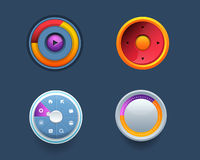 Vector Web Template Button Ui Sets. Vector design with different Elements Royalty Free Stock Image