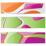 Vector web2 banner set. Vector color modern web2 banner set Royalty Free Stock Image