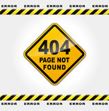 Vector webpage error Stock Photography