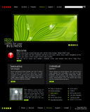 Vector website is black with green leaves Royalty Free Stock Photo