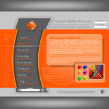 Vector Website Design Template Royalty Free Stock Photography