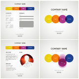 Vector Website Design Template. Vector Template Website 4 pages Stock Image