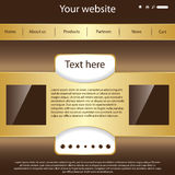 Vector website design template Stock Photo