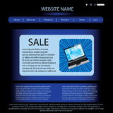 Vector website design template Royalty Free Stock Image