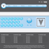 Vector website design template Stock Photography