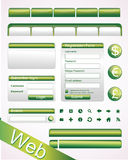 Vector Website Elements Royalty Free Stock Image