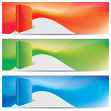 Vector website headers, banners Stock Images