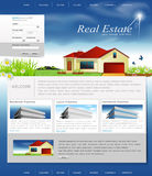 Vector website for the organization estate Stock Image