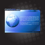 Vector website template Royalty Free Stock Photography