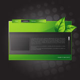 Vector website template Stock Photography