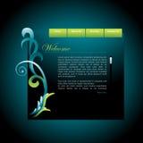 Vector website template Stock Photo