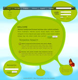 Vector website template Stock Photo