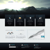 Vector Website Template Design Eps 10 Royalty Free Stock Photo