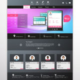 Vector website template with mobile gadgets displaying backend as a service Stock Image