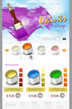 Vector website template paint shop Stock Photos