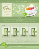 Vector website template tea shop Stock Photography