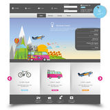 Vector website template for Tourism Royalty Free Stock Photography