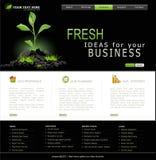 Vector Website voor zaken Royalty-vrije Stock Afbeelding