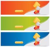 Vector websitekopballen/banners Stock Fotografie