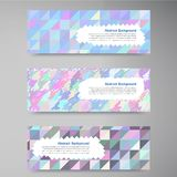 Vector wed banners. Set color elemet and square Stock Photography