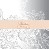 Vector wedding background for design Stock Photo