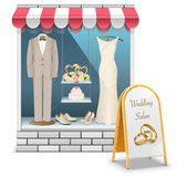 Vector Wedding Boutique Stock Photos