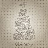 Vector wedding cake Stock Images