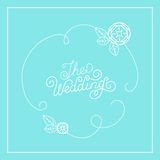 Vector wedding card design Royalty Free Stock Image