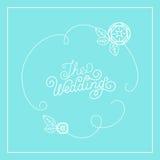 Vector wedding card design Royalty Free Stock Image