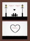 Vector wedding card or invitation with children Stock Photo