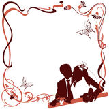 Invitation with Wedding pair Royalty Free Stock Image