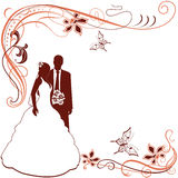 Invitation with Wedding pair Stock Photo