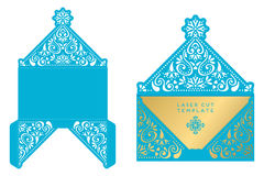 Vector wedding card laser cut template Stock Photo