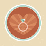 Vector wedding concept inretro style Royalty Free Stock Photography