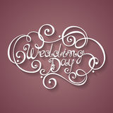 Vector Wedding Day Inscription, St. Valentine's Day Symbol, Wedd Royalty Free Stock Photos