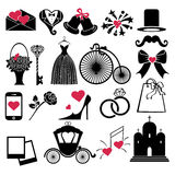 Vector Wedding Design  icons for Web and Mobile Stock Photo