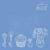 Vector wedding elements. Illustration for wedding invitation or save the date cards Stock Photo
