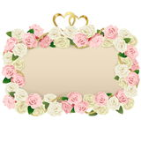 Vector Wedding Flower Board Royalty Free Stock Photography