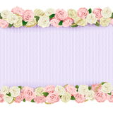 Vector Wedding Flower Frame Stock Photography