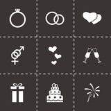 Vector wedding icon set Royalty Free Stock Photos