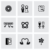 Vector Wedding icon set Stock Photo