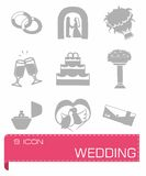 Vector Wedding icon set Royalty Free Stock Image