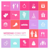 Vector wedding icon set Royalty Free Stock Photo